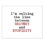 Walk Line Bravery Stupidity Small Poster