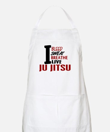 Bleed Sweat Breathe Ju Jitsu BBQ Apron