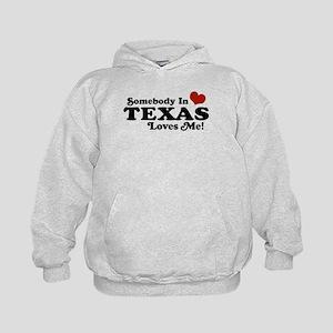 Somebody in Texas Loves Me Kids Hoodie