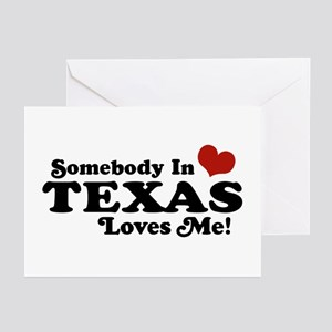 Texas greeting cards cafepress somebody in texas loves me greeting cards pk of 1 m4hsunfo