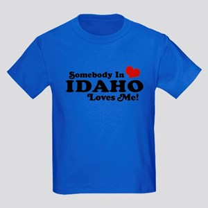 Somebody in Idaho Loves me Kids Dark T-Shirt