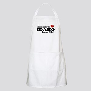 Somebody in Idaho Loves me BBQ Apron