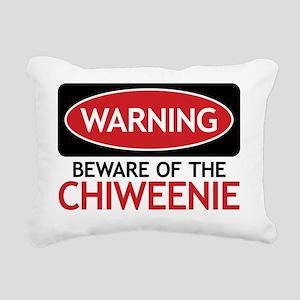 Warning Beware Of The Ch Rectangular Canvas Pillow