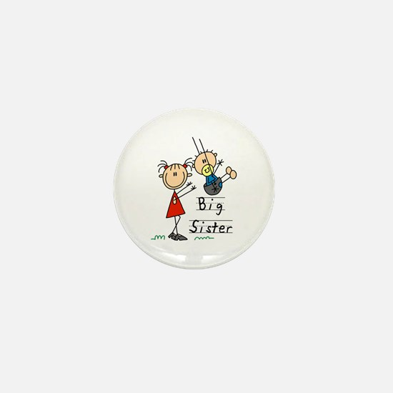 Swing Big Sister Little Brother Mini Button