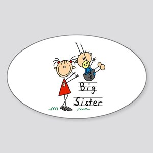 Swing Big Sister Little Brother Sticker (Oval)