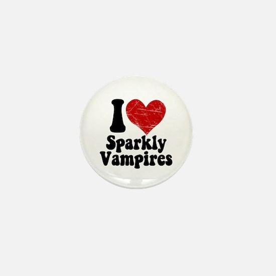 I Love Sparkly Vampires Mini Button