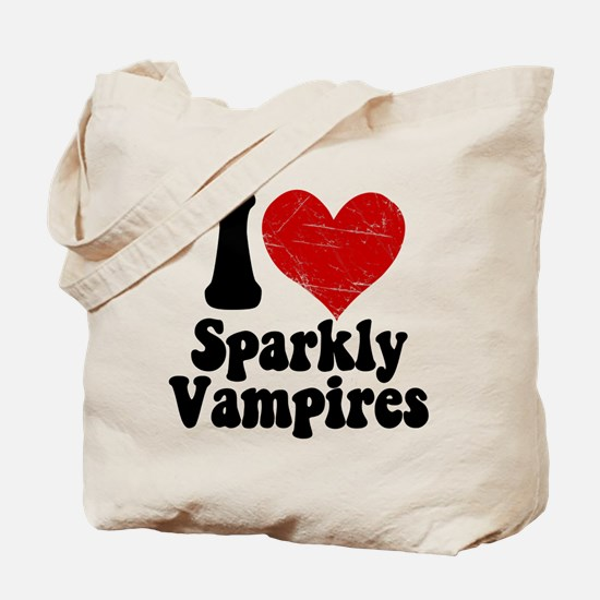 I Love Sparkly Vampires Tote Bag