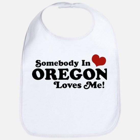 Somebody in Oregon Loves Me Bib