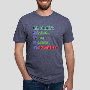 My Brain, 90% Kendo Mens Tri-blend T-Shirt