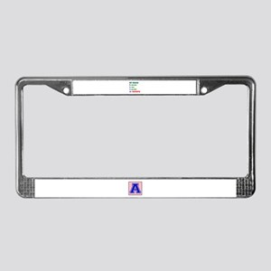 My Brain, 90% Kenpo License Plate Frame