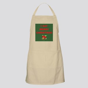 Say Merry Christmas BBQ Apron