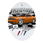 Hemi Muscle Car Oval Ornament