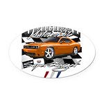 Hemi Muscle Car Oval Car Magnet