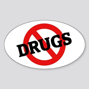 Anti Drugs Oval Sticker