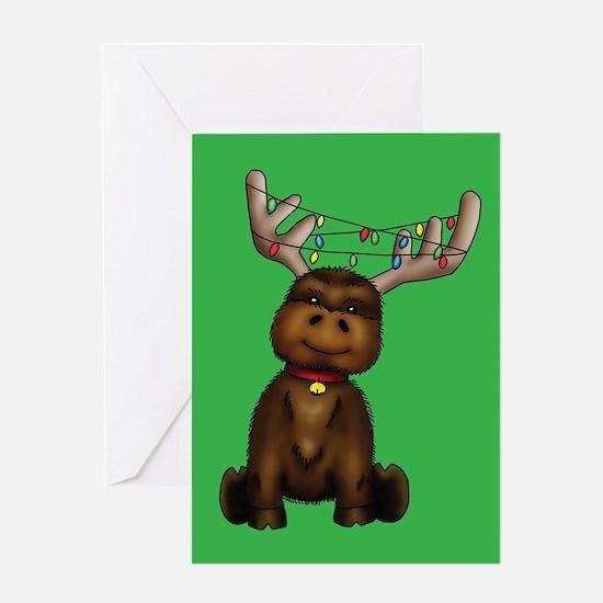 """""""Chris-Moose"""" Single Greeting Card"""