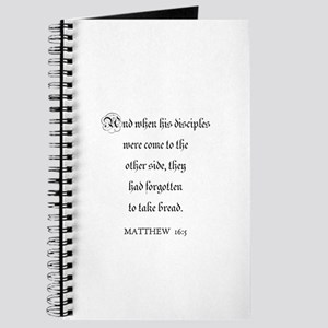 MATTHEW 16:5 Journal