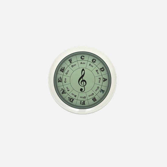 Green Circle of Fifths Mini Button