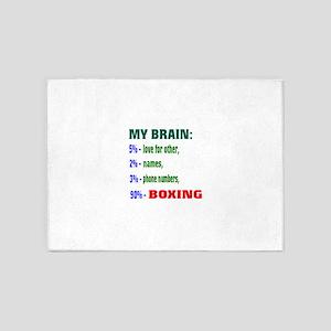 My Brain, 90% Boxing 5'x7'Area Rug