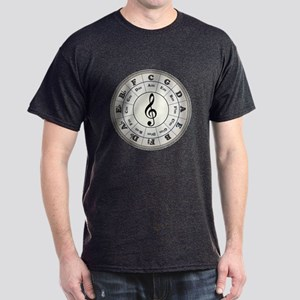 """Pearl"" Circle of Fifths Dark T-Shirt"