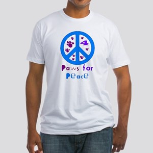 Koy's Logo + Blue Paws.. Fitted T-Shirt