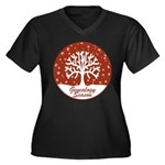 Genealogy Season Women's Plus Size V-Neck Dark T-S