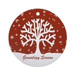 Genealogy Season Ornament (Round)
