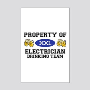 Property of Electrician Drinking Team Mini Poster