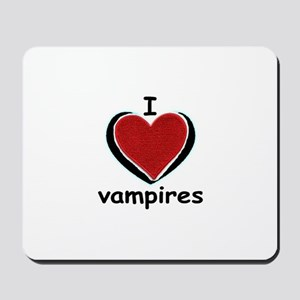 i love vampires Mousepad