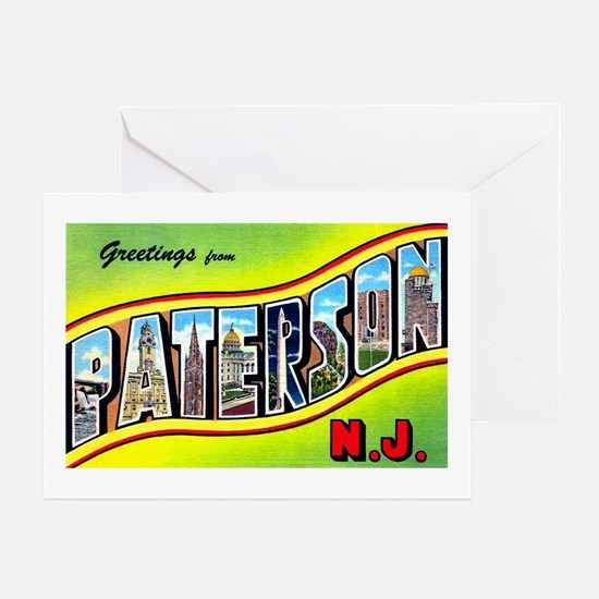 Paterson New Jersey Greetings Greeting Card
