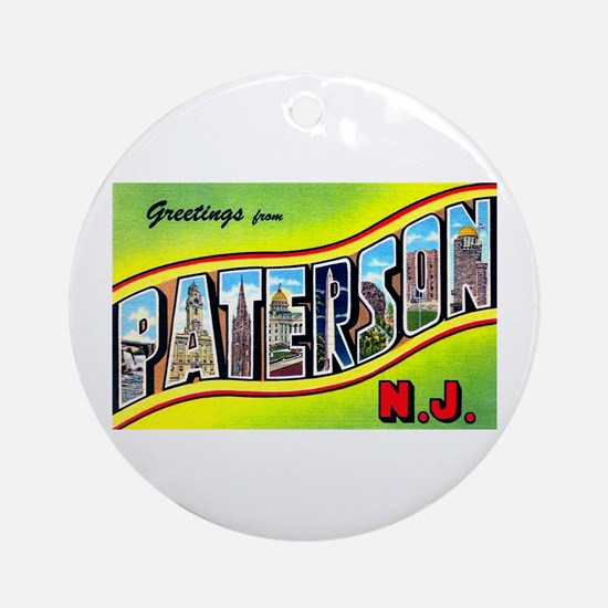 Paterson New Jersey Greetings Ornament (Round)