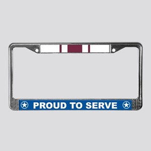 Meritorious Service License Plate Frame