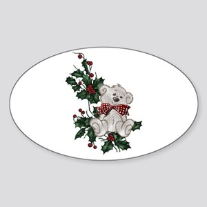 Holly Beary Oval Sticker