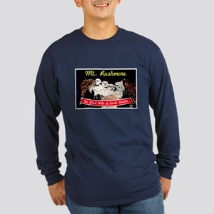 Mt Rushmore South Dakota (Front) Long Sleeve Dark
