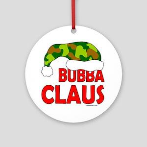 BUBBA/SANTA CLAUS Ornament (Round)