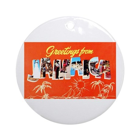 Jamaica Greetings Ornament (Round)