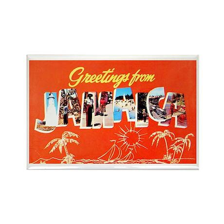 Jamaica Greetings Rectangle Magnet
