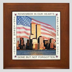 9/11 9-11 Memoral Plaque - Framed Ceramic Tile