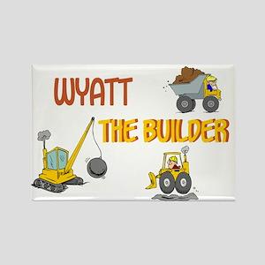 Wyatt the Builder Rectangle Magnet