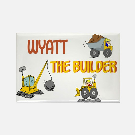 Wyatt the Builder Rectangle Magnet