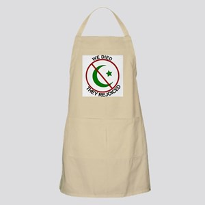 BBQ Apron We Died They Rejoiced - Say NO to islam