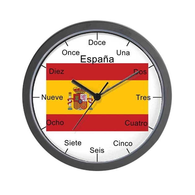 Spanish Large Flag Wall Clock By Eclectical