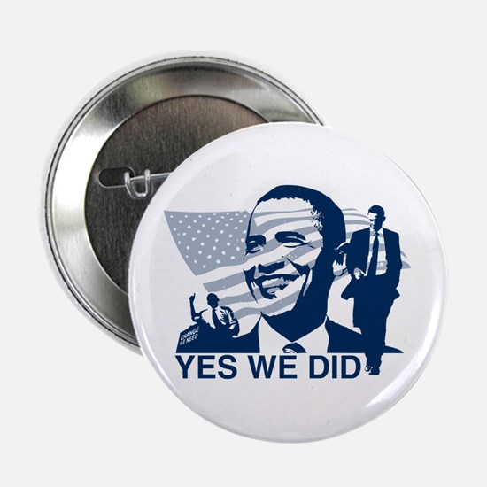 """Obama Yes We Did 2.25"""" Button"""