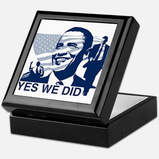 Obama Yes We Did Keepsake Box