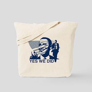 Obama Yes We Did Tote Bag