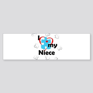 I Love My Niece - Autism Bumper Sticker