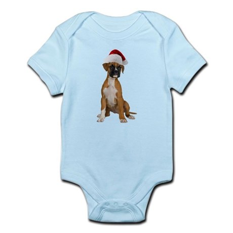 Santa Boxer Puppy Infant Bodysuit