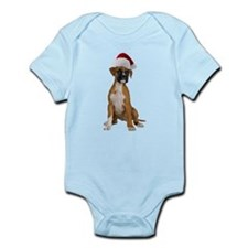 Santa Boxer Puppy Infant Bodysuit