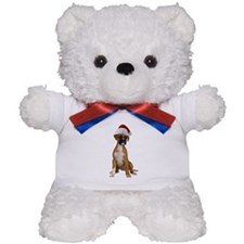 Santa Boxer Puppy Teddy Bear