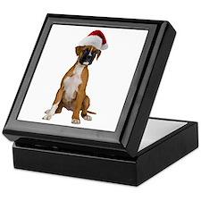 Santa Boxer Puppy Keepsake Box