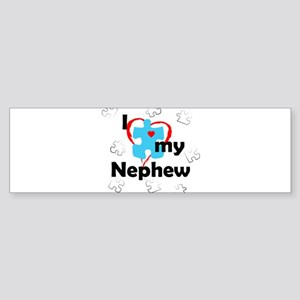 I Love My Nephew - Autism Bumper Sticker
